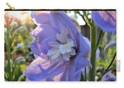 Aurora Light Purple Delphinium And Sunset No. 2 Carry-all Pouch