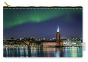 Aurora Over The Stockholm City Hall And Kungsholmen Carry-all Pouch