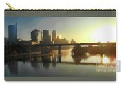 Austin Hike And Bike Trail - Pfluger Pedestrian Bridge - Fog Lifting Bright Panorama Carry-all Pouch