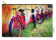 Austin Texas Bikes  -- Original Painting Carry-all Pouch