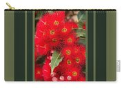 Australian Red Eucalyptus Flowers With Design Carry-all Pouch