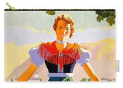 Austria, Young Woman In Traditional Dress Invites You, Danube River Carry-all Pouch
