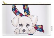 Autism Awareness And Puppy Love Carry-all Pouch
