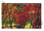 Autum Red Woodlands Painting Carry-all Pouch