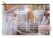 Autumn - House - My Aunts Porch Carry-all Pouch by Mike Savad