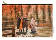 Autumn - People - A Walk In The Countryside Carry-all Pouch