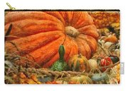 Autumn - Pumpkin - Great Gourds Carry-all Pouch by Mike Savad