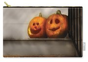 Autumn - Pumpkins - Two Goofy Pumpkins Carry-all Pouch