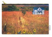 Autumn Abandoned House In The Prairie Carry-all Pouch