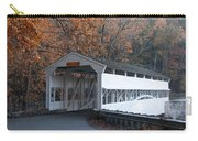 Autumn At Knox Covered Bridge In Valley Forge Carry-all Pouch by Bill Cannon