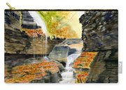 Autumn At Rainbow Falls  Carry-all Pouch