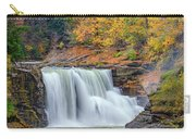 Autumn At The Lower Falls Carry-all Pouch by Rick Berk