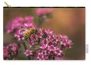 Autumn Bee On Flowers Carry-all Pouch