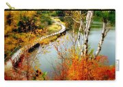 Autumn Birch Lake Boardwalk Carry-all Pouch