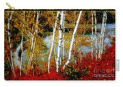 Autumn Birch Lake View Carry-all Pouch