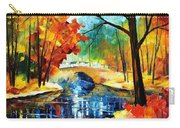 Autumn Calm 2 - Palette Knife Oil Painting On Canvas By Leonid Afremov Carry-all Pouch