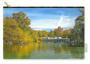 Autumn Central Park Lake And Boathouse Carry-all Pouch