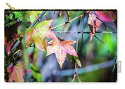 Autumn Color Changing Leaves On A Tree Branch Carry-all Pouch