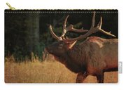 Autumn Elk In Cataloochee Valley Textured Carry-all Pouch