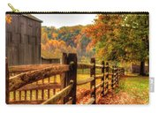 Autumn Fence Posts Scenic Carry-all Pouch
