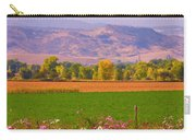 Autumn Flowers At Harvest Time Carry-all Pouch