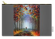 Autumn Fog 4 - Palette Knife Oil Painting On Canvas By Leonid Afremov Carry-all Pouch