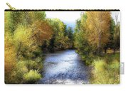 Autumn Harvest Along The River Carry-all Pouch