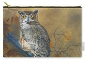 Autumn Highlights - Great Horned Owl Carry-all Pouch