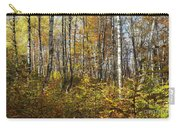 Autumn In The Birches Forest Carry-all Pouch
