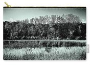 Autumn In The Wetlands - Black And White Carry-all Pouch