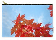 Autumn Landscape Fall Leaves Blue Sky White Clouds Baslee Carry-all Pouch