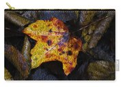 Autumn Leaf On Ground Carry-all Pouch