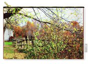 Autumn Leaves Against A Fence Carry-all Pouch