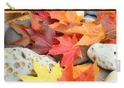 Autumn Leaves Art Print Coastal Fossil Rocks Baslee Troutman Carry-all Pouch