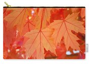 Autumn Leaves Art Prints Orange Fall Leaves Baslee Troutman Carry-all Pouch