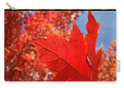 Autumn Leaves Fall Art Red Orange Leaves Blue Sky Baslee Troutman Carry-all Pouch