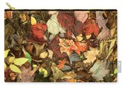 Colorful Autumn Leaves In Blue Green Red Yellow Orange Carry-all Pouch