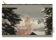 Autumn Leaves Winter Snow Carry-all Pouch