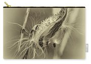Autumn Milkweed 7 - Sepia Carry-all Pouch