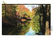 Autumn Park With Bridge Carry-all Pouch