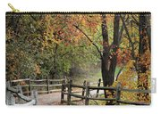 Autumn Path In Park In Maryland Carry-all Pouch