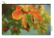 Autumn Persimmon Leaves Carry-all Pouch
