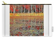Autumn Pond And Lily Pads Poster Carry-all Pouch