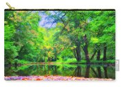 Autumn Pond In Gladwyne Carry-all Pouch by Bill Cannon