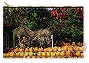 Autumn Pumpkins And Cornstalks Graphic Effect Carry-all Pouch