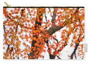 Autumn Red Leaves On A Tree   Carry-all Pouch