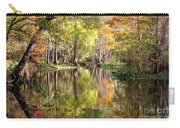 Autumn Reflection On Florida River Carry-all Pouch by Carol Groenen