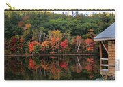 Autumn Reflections And Cabin On Baker Pond Carry-all Pouch