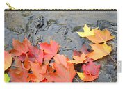 Autumn River Landscape Red Fall Leaves Carry-all Pouch