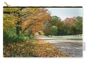 Autumn Road With Fence  Carry-all Pouch